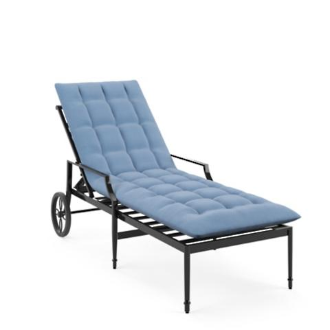Tufted Outdoor Chaise Cushion