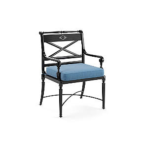 Double Piped Outdoor Chair Cushion