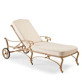 Orleans Chaise with Cushions in Biscayne Finish