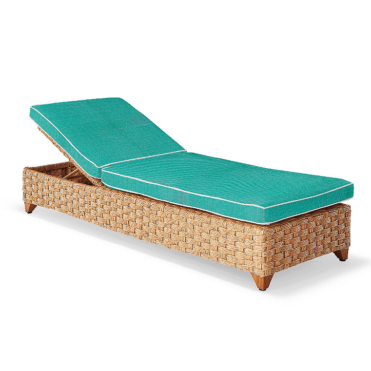 All weather resin chaise lounge frontgate for Chaise longue resine