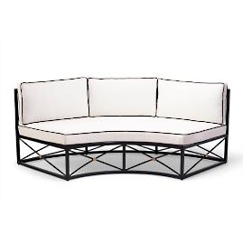 Roma Curved Sofa with Cushions