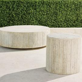 Barrel Wood Side Table