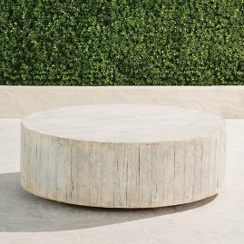 Barrel Wood Coffee Table