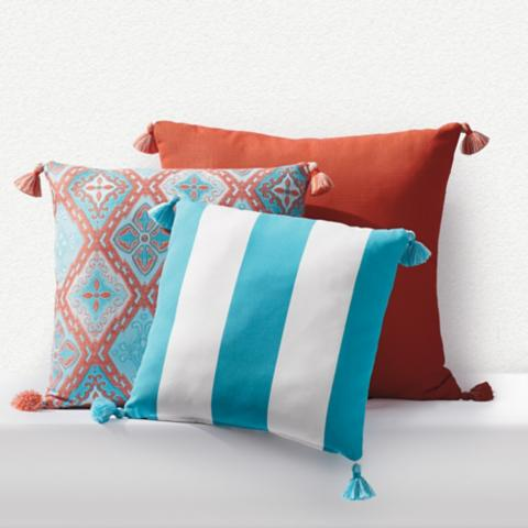Outdoor Square Pillow With Tassels