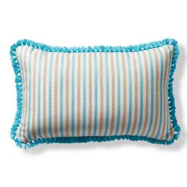 Fairway Stripe Aruba Outdoor Lumbar Pillow