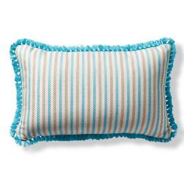 Fairway Stripe Aruba Outdoor Lumbar Pillow