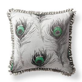 Feather Bliss Jade Outdoor Pillow