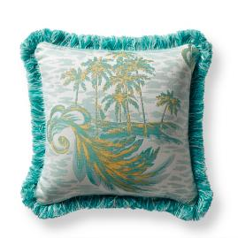 Paradise Isle Lemon Outdoor Pillow