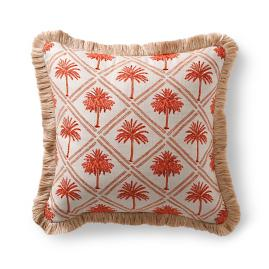 West Bay Palm Sangria Outdoor Pillow