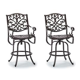 Orleans Set of Two Swivel Bar Stools in