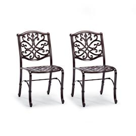Orleans Set of Two Bistro Chairs in Chocolate