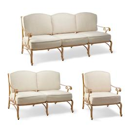 Orleans 3-pc. Sofa Set in Biscayne Finish
