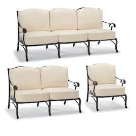 Orleans 3-pc. Sofa Set in Chocolate Finish