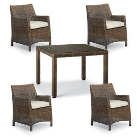 Hyde Park 5-pc. Woven Square Dining Set in