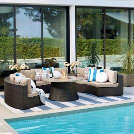 Pasadena 4-pc. Sofa Set with Fire Table