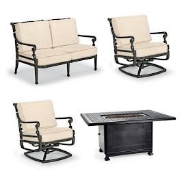 Carlisle 4-pc. Loveseat Set with Fire Table in