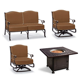 Chocolate all weather outdoor furniture frontgate for Outdoor furniture new orleans