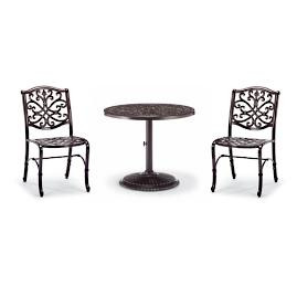 Orleans 3-pc. Bistro Set in Chocolate Finish