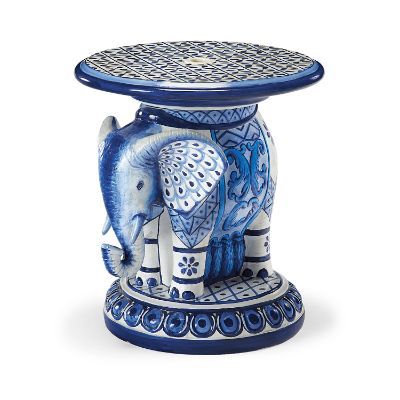 Painted Elephant Umbrella Table Frontgate