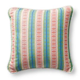 Diamond Trail Tropical Terry Trim Outdoor Pillow