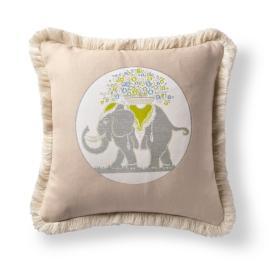 Elephant Gem Citrine Outdoor Pillow