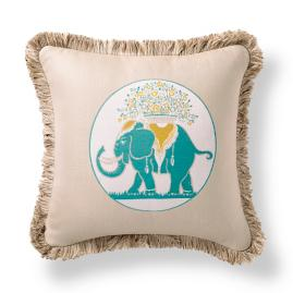 Elephant Gem Aruba Outdoor Pillow