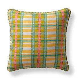 Lilly Plaid Citrus Outdoor Pillow