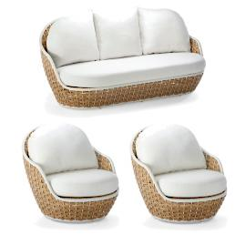 Ravello 3-pc. Sofa Set by Porta Forma