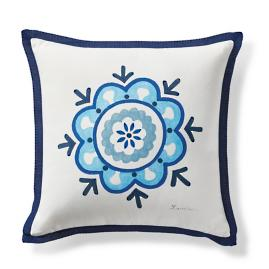Crystalline Mosaic Outdoor Throw Pillow