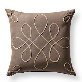 Spiral Glam Sand Outdoor Pillow