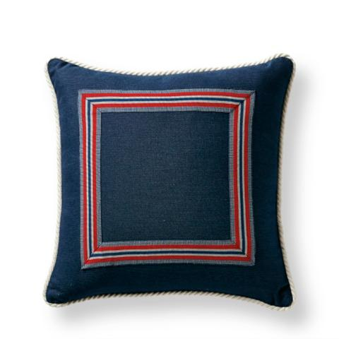 Riviera Indigo Outdoor Pillow