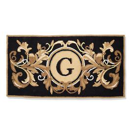 English Garden Monogrammed Entry Mat