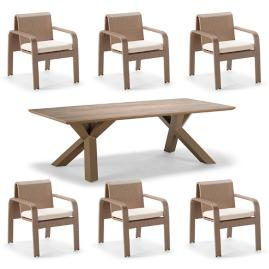 Arezzo 7-pc. Rectangular Dining Set by Porta Forma