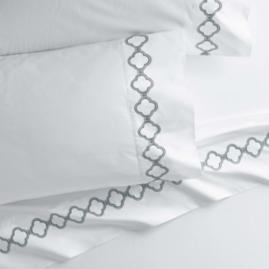 Quatrefoil Pillowcases, Set of Two