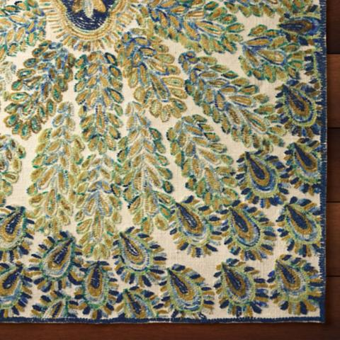 Delightful Peacock Area Rug