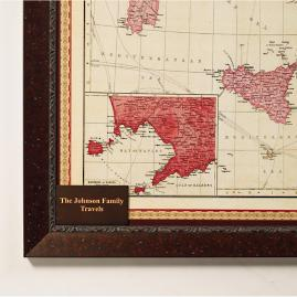Personalized Plaque for Italy Travel Map