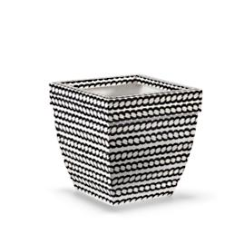 "Madison 19"" Black and White Planter"