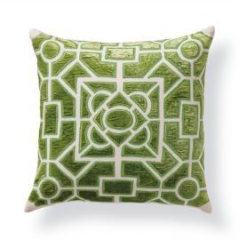 Garden Velvet Applique Throw Pillow