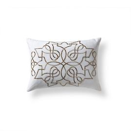 Medallion Beaded Decorative Pillow