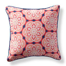 St. Barts Tile Sky Outdoor Pillow