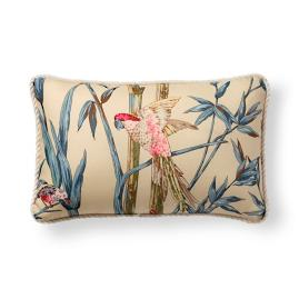 Scalamandre Birds of a Feather Outdoor Bolster Pillow