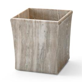 Canyon Ranch Natural Marble Wastebasket