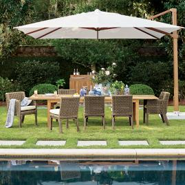 Altura 13-ft. Square Cantilever Umbrella by Porta Forma