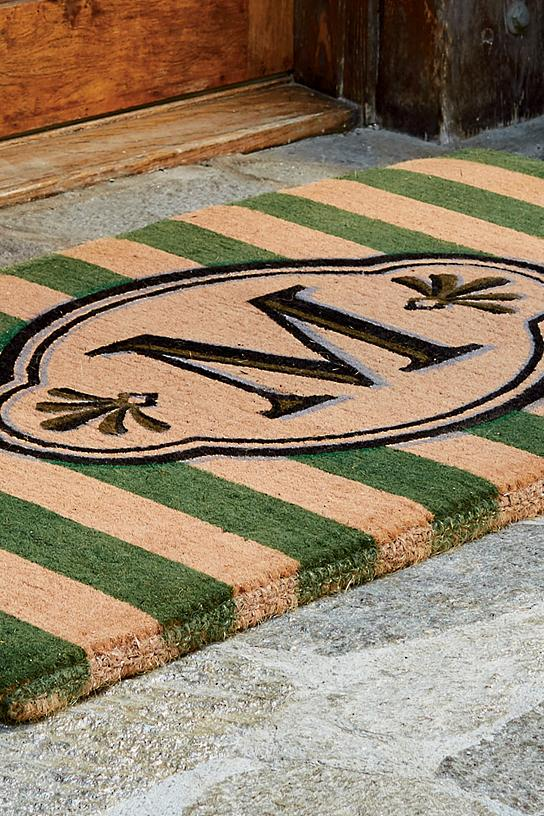 Ameile Cabana Stripe Monogrammed Mat Frontgate