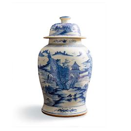 Large Chinoiserie Landscape Jar