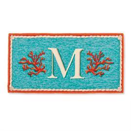 Coral Monogram Door Mat