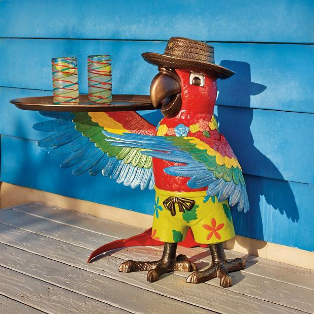 Margaritaville Petey The Parrot Party Table Frontgate