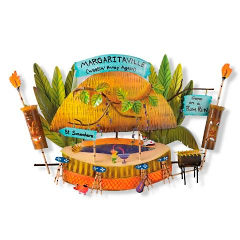 Margaritaville wasted away again tiki hut wall art frontgate for Outdoor decor accessories