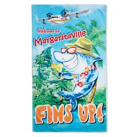 Margaritaville Fins Up Pool Towel