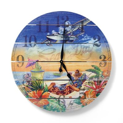 Margaritaville Seas The Day Outdoor Clock Frontgate